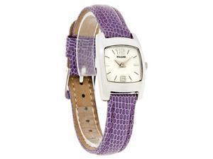 Pulsar By Seiko Quartz Ladies Mop Dial Purple Leather Band Watch PJ5119