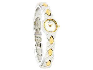 Pulsar Two-Tone Bracelet Silver-Tone Dial Women's Watch #PPGC27