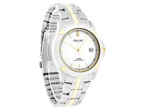 Pulsar Quartz Mens White Dial Date Two Tone Dress Watch Pxh848x New