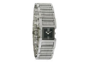 Seiko Tressia Ladies Black Dial Stainless Steel Bracelet Quartz Watch SUJ337
