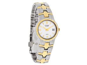 Citizen Quartz Ladies White Dial Two Tone Bracelet Dress Watch EU2434-59A