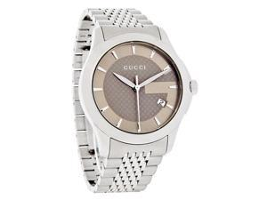 Gucci Stainless Steel Bracelet Gold Dial Men's Watch #YA126406
