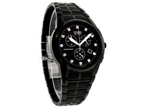 Citizen Eco-Drive Chronograph Diamonds Black Dial Men's watch #AT2055-52G
