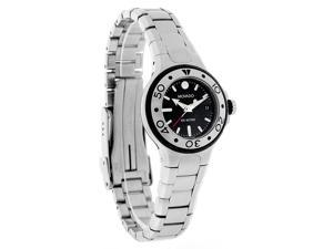 Movado Series 800 Ladies Black Dial Stainless Steel Swiss Quartz Watch 2600005