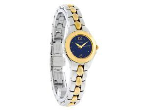 Seiko Ladies 2 Tone Quartz Blue Dial Dress Watch SXGN10