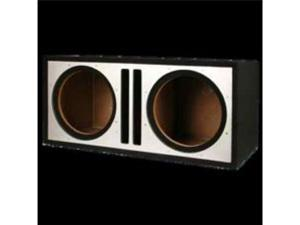 Absolute USA PDEB10S Dual 10-Inch, 3/4-Inch MDF Twin Port Subwoofer Enclosure with Silver High Gloss Face Board