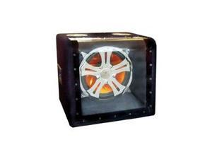 Absolute HFS1127 Single 12-inch Subwoofer Illumination Bandpass Box with Crhome Grill and LED Lighting with 500 Watts Maximum ...