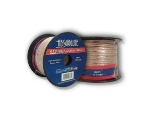 Absolute S12100 100-Feet 12 Gauge Car and Home Stereo Clear Speaker Wire