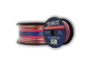 Absolute S1440 40-Feet 14 Gauge Car and Home Stereo Clear Speaker Wire