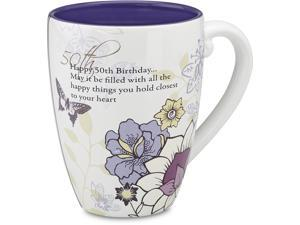 Mark My Words 50th Birthday Mug, 4.75in, 17oz Capacity