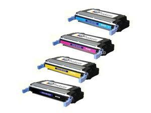LD © Remanufactured Replacement Laser Toner Cartridges for HP Color LaserJet 4730: 1 Black Q6460A, 1 Cyan Q6461A, 1 Magenta ...