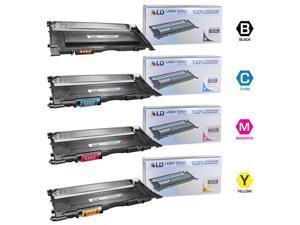 LD Compatible Laser Toners for  Samsung CLP-320  Set of 4 Toner Cartridges: 1 Black CLP-K407S / Cyan CLP-C407S / Magenta ...