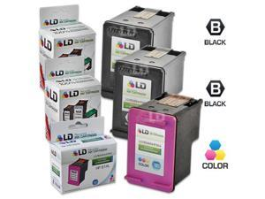 LD © Remanufactured Replacements for Hewlett Packard HP 61XL 3PK High Yield Ink Cartridges Includes: 2 CH563WN Black, & 1 ...