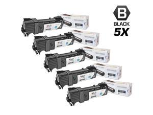 LD © Compatible Dell T106C Set of 5 High Yield Black Toner Cartridges for 2130cn/2135cn Printers
