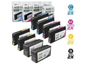 LD © Remanufactured Replacement for HP 950 XL & HP 951 XL Set of 8 High Yield Ink Cartridges Includes: 2 Black CN045AN, 2 ...
