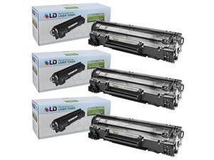 LD © Remanufactured Canon 3500B001AA (128) Set of 3 Black Laser Toner Cartridges