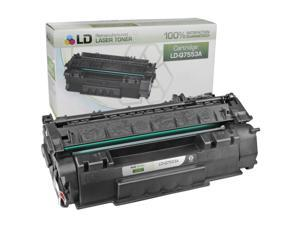 LD © Remanufactured Replacement Laser Toner Cartridge for Hewlett Packard Q7553A (HP 53A) Black
