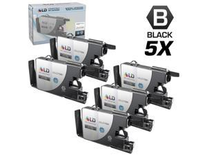 LD © Brother Compatible LC75 Pack of 5 High Yield Ink Cartridges: 5 LC75BK Black for use in the Brother MFC-J6510DW, MFC-J6710DW, ...