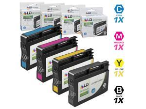 LD © Remanufactured Replacements for Hewlett Packard 932XL / 932 / HP 933XL  / 933 Set of 4 Inkjet Cartridges Includes: 1 ...