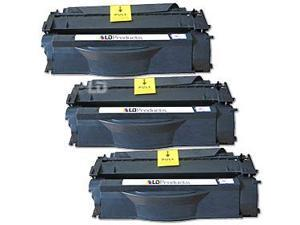 LD © Remanufactured Replacement Laser Toner Cartridges for Hewlett Packard Q7553X (53X) High-Yield Black (3 Pk)  for LaserJet ...