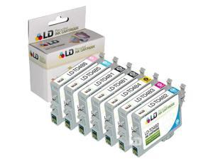 LD © Epson Remanufactured T048 Set of 7 Ink Carts.: 2 Black T048120 & 1 Cyan T048220, Magenta T048320, Yellow T048420, Light ...