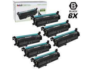 LD Remanufactured Replacement for Hewlett Packard CE260A (HP 647A) Black Laser Toner Cartridge (6 Pack) for the HP Color ...