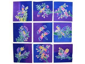 Authentic Cotton Batik Textile Art Packet Dragonfly