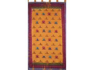 Om Tie Dye Tab Top Curtain Panel Amber