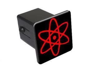 "Atomic Symbol - Black Red - 2"" Tow Trailer Hitch Cover Plug Insert"