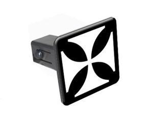 "Iron Maltese Cross - 1.25"" Tow Trailer Hitch Cover Plug Insert"