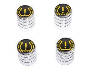 TPMS Tire Pressure Monitoring System Symbol - Tire Rim Valve Stem Caps - Aluminum