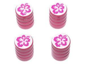 Hibiscus Flower - Tire Rim Valve Stem Caps - Pink