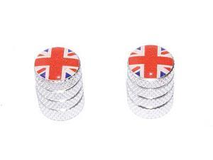 Great Britain Flag - British Valve Stem Caps - Motorcycle Bike Bicycle - Aluminum