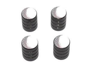 Golf Ball - Golfing Tire Rim Valve Stem Caps - Black