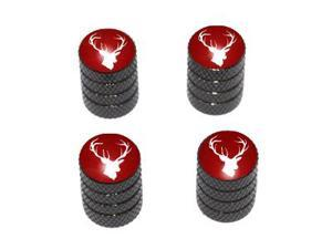 Deer - Hunting Hunter Tire Rim Valve Stem Caps - Black