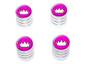 Princess Crown Tiara - Tire Rim Valve Stem Caps - Aluminum