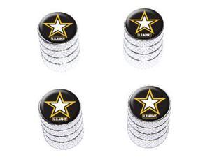 United States Army Military Star - Tire Rim Valve Stem Caps - Aluminum