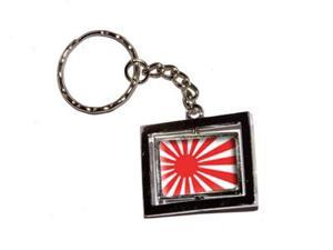 Japan Japanese Rising Sun Flag Keychain Key Chain Ring