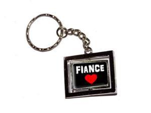 Fiance Love - Red Heart Keychain Key Chain Ring