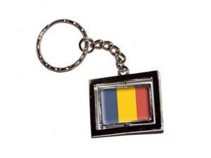 Romania Romanian Country Flag Keychain Key Chain Ring