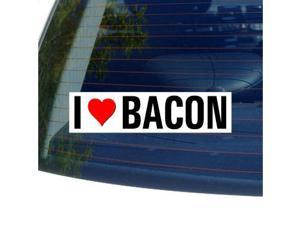 "I Love Heart BACON Sticker - 8"" (width) X 2"" (height)"