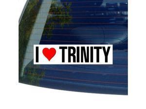 "I Love Heart TRINITY Sticker - 8"" (width) X 2"" (height)"
