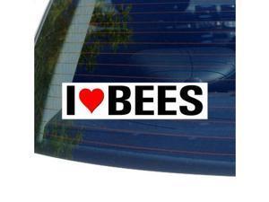 """I Love Heart BEES Sticker - 8"""" (width) X 2"""" (height)"""