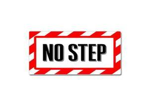 "No Step - Airplane Wing Warning Sticker - 7"" (width) X 3.3"" (height)"