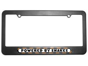 Powered By Snakes License Plate Tag Frame