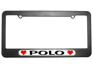 Polo Love with Hearts License Plate Tag Frame
