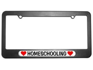 Homeschooling Love with Hearts License Plate Tag Frame