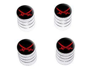 Pirate Swords - Tire Rim Wheel Valve Stem Caps - Aluminum