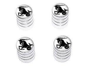 Capricorn Zodiac Horoscope - Tire Rim Wheel Valve Stem Caps - Aluminum