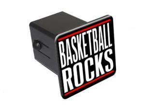 "Basketball Rocks - 2"" Tow Trailer Hitch Cover Plug Insert"